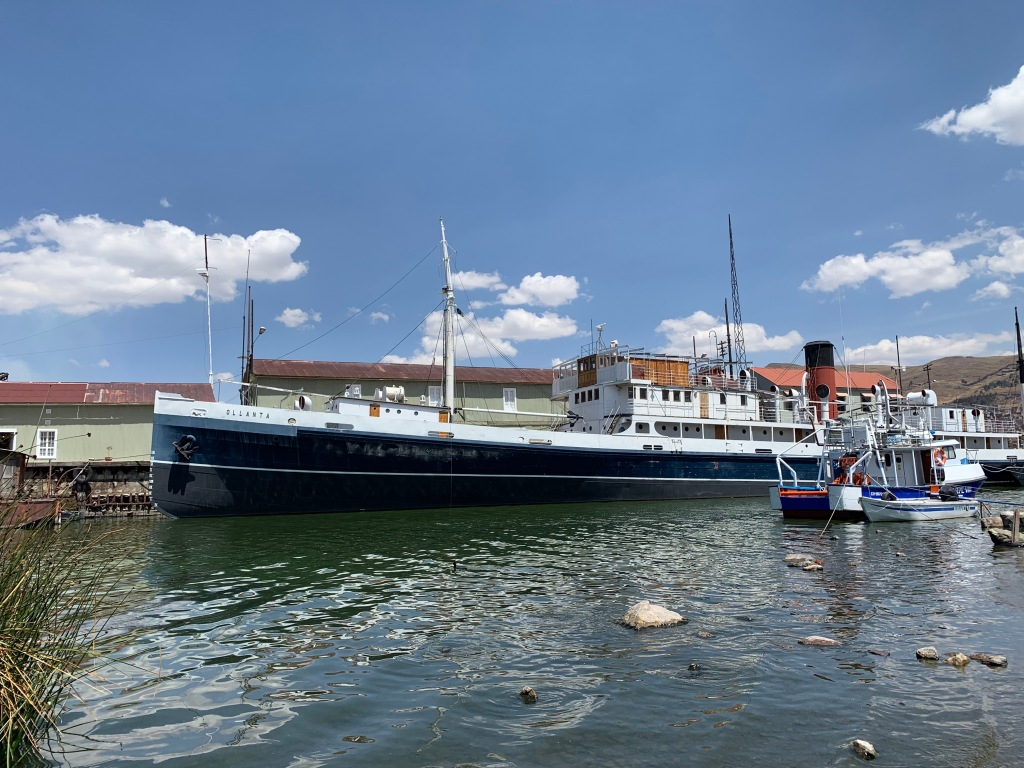 SS Ollanta at the pier in Puno