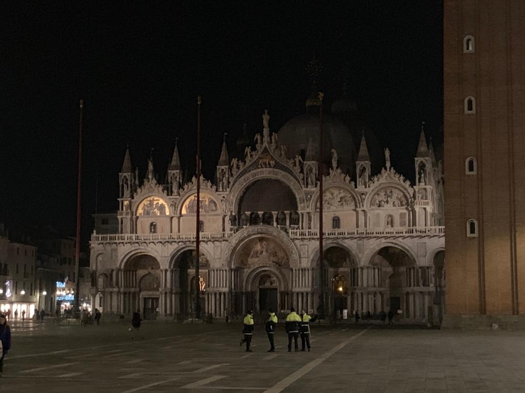 St Mark's Basilica at night