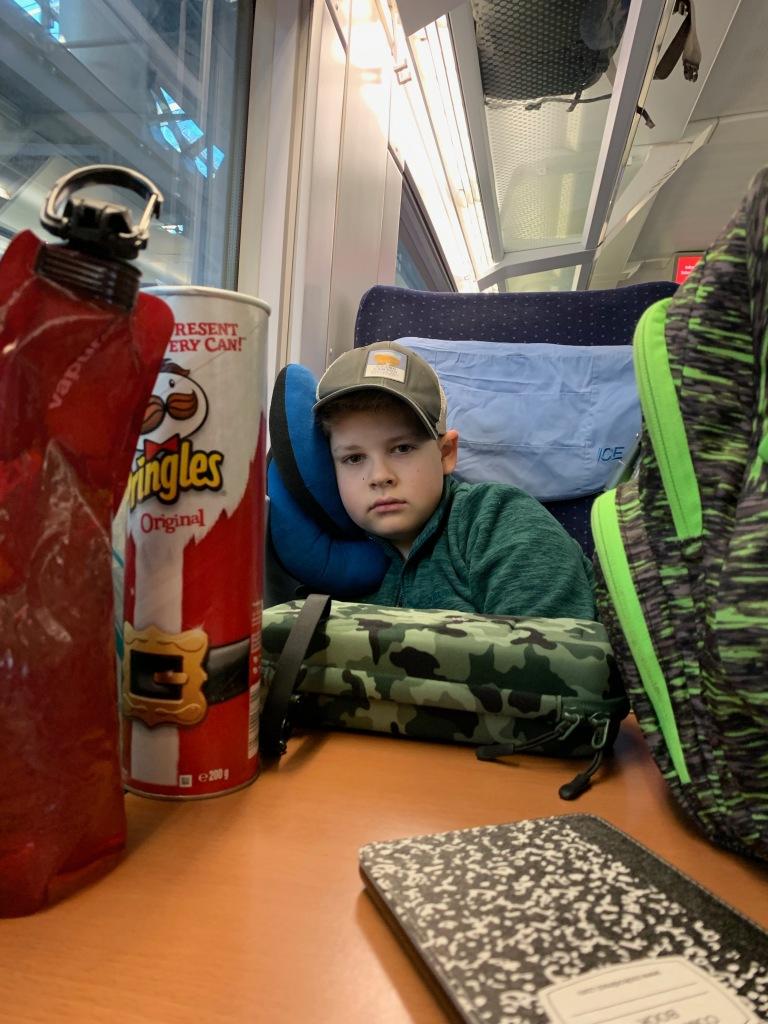 Half-awake on an early train