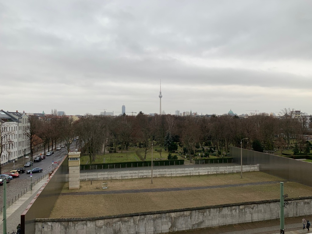 Segment of the Berlin Wall as it would have appeared in use.