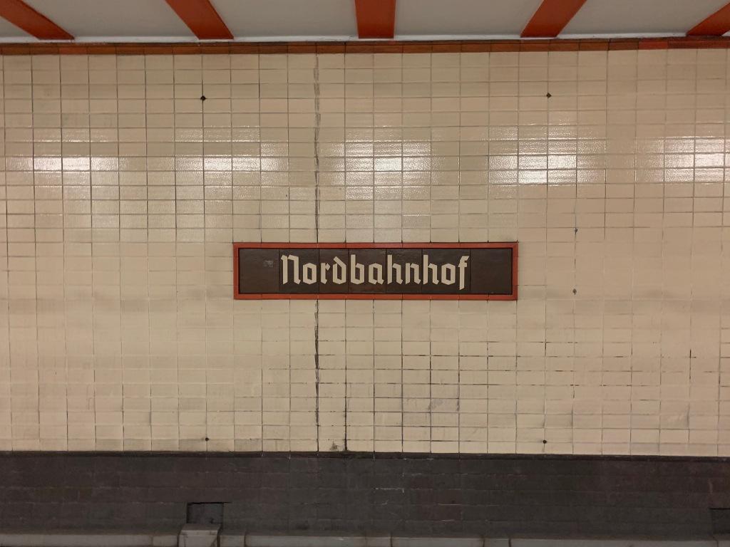 Sign inside the Nordbahnhof S-Bahn station