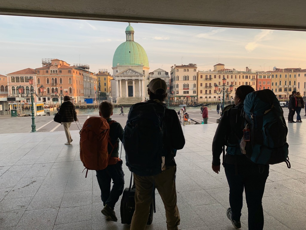 View of Venice from the entrance to the train station