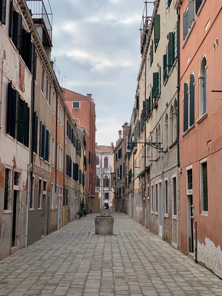 An empty street in Venice