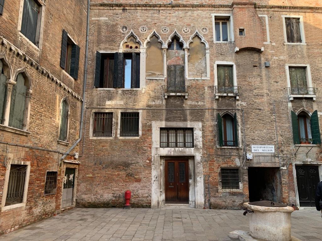 Deserted square in Venice