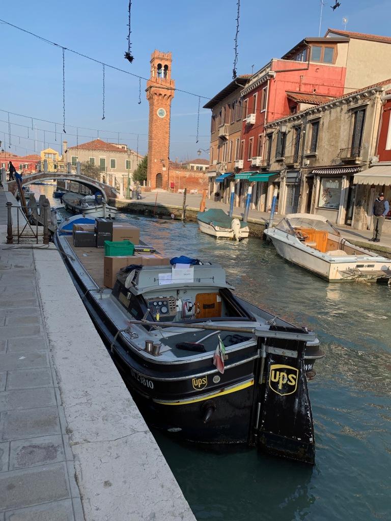 UPS boat in Venice