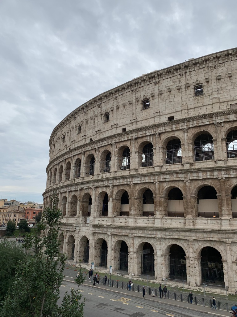 Exterior view of the Colosseum in Rome
