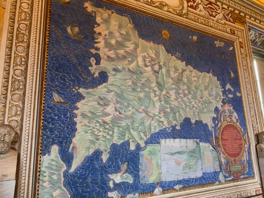 Map of Sicily in the Vatican Gallery of Maps