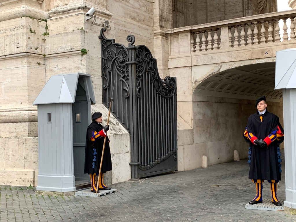 Swiss Guards on duty