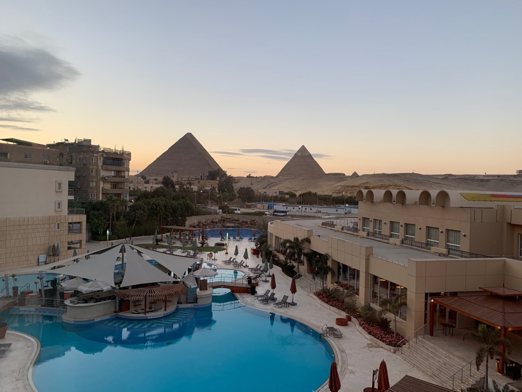 View of the Pyramids from Le Meridien