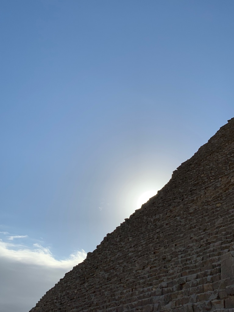 Sunlight behind the Great Pyramid
