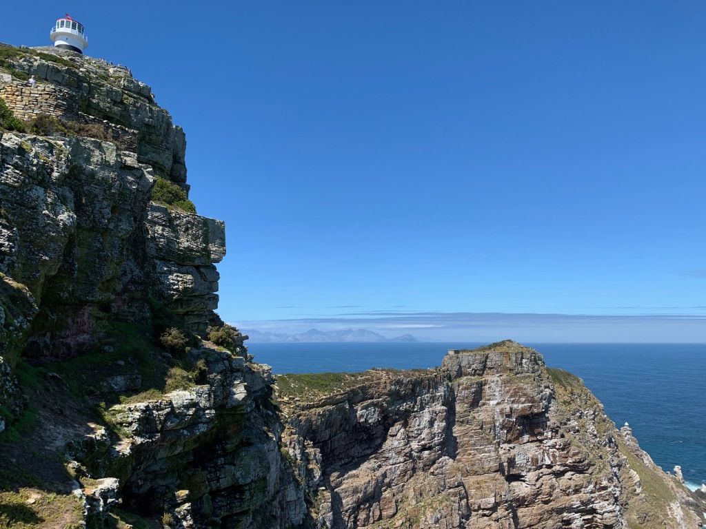 Cape Point, showing both lighthouses