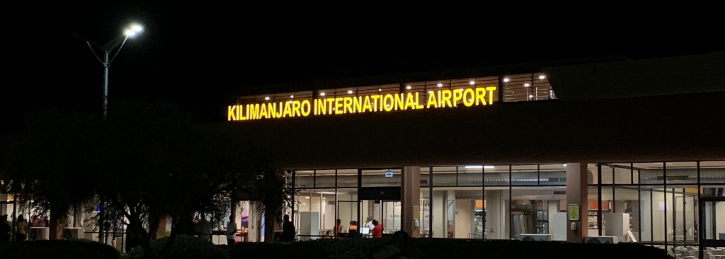 Sign at the Kilimanjaro International Airport