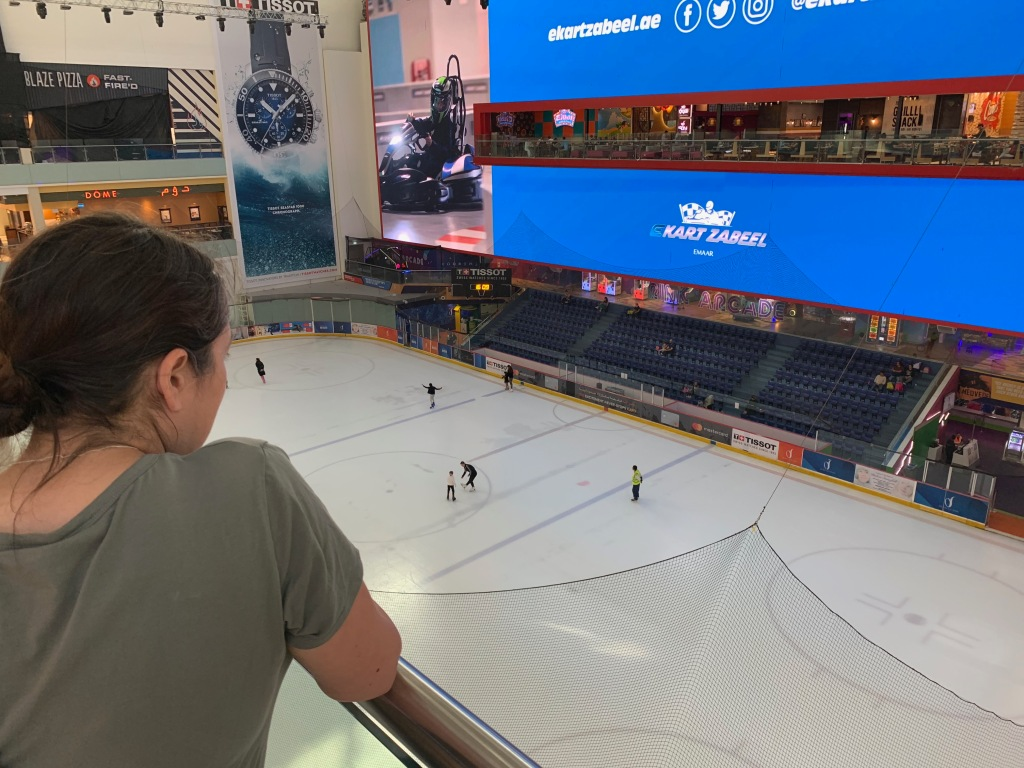 Ice rink at the Dubai Mall