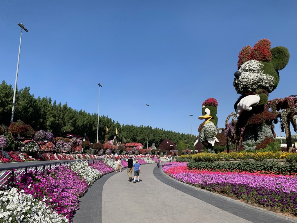Statues in the Dubai Miracle Garden