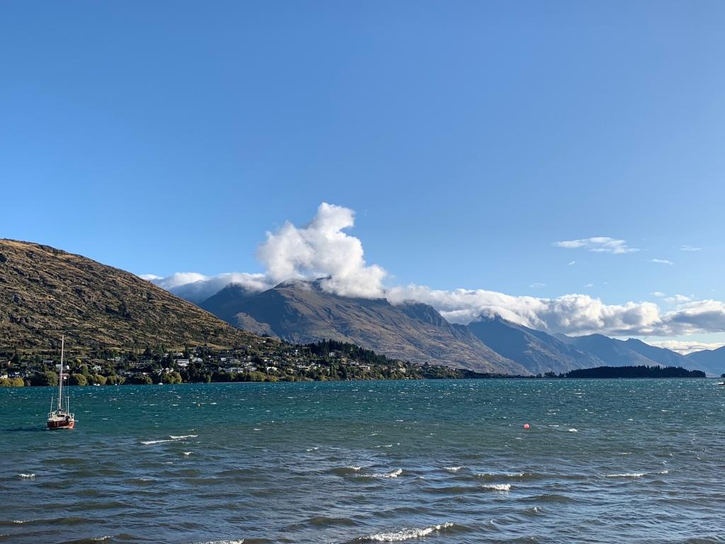 View of Lake Wakatipu from Frankton Beach