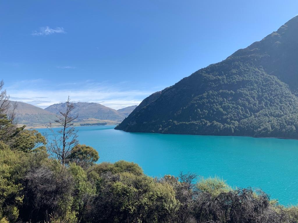 Turquoise waters of Lake Wakatipu from Bob's Cove Track