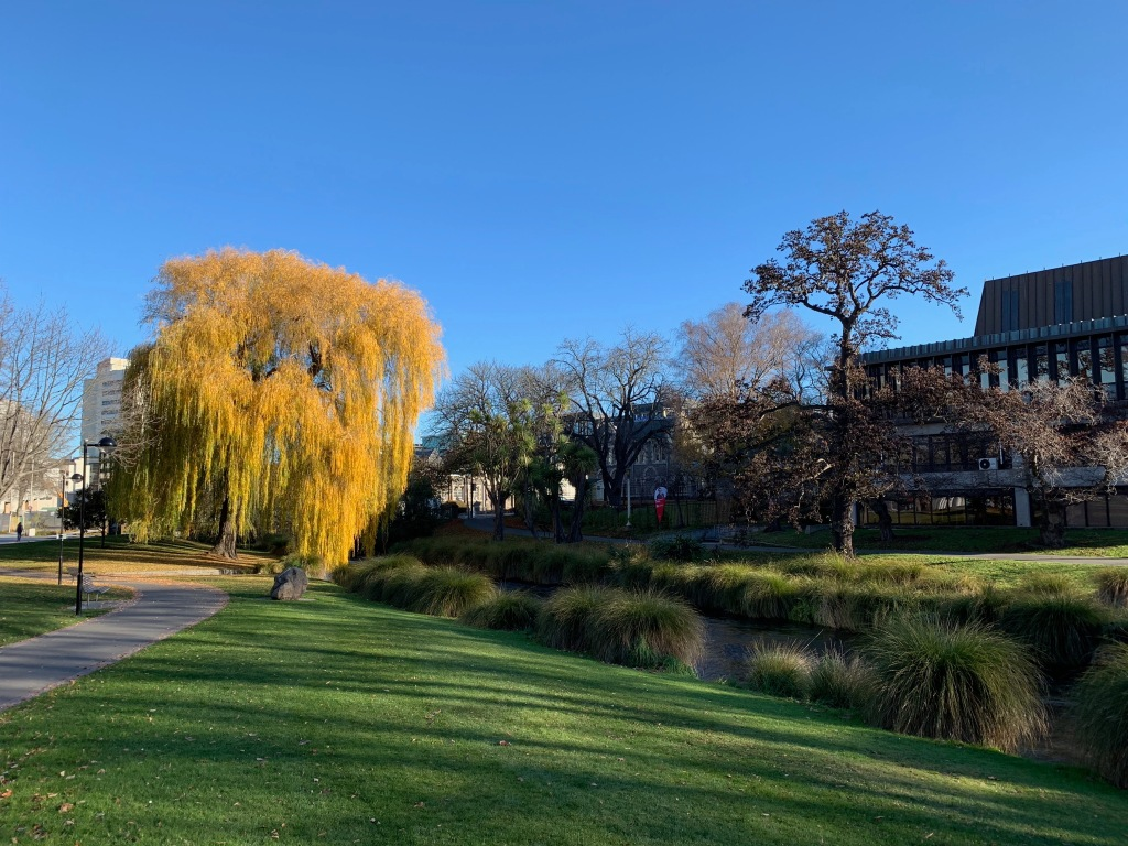 View of the Avon River in Christchurch