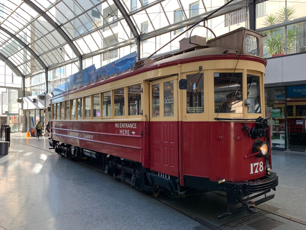 Christchurch tramway at Cathedral Junction