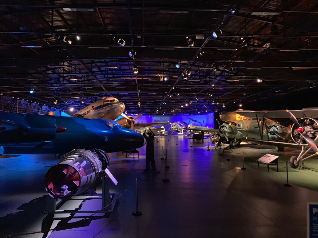 Main hall of the RNZAF museum