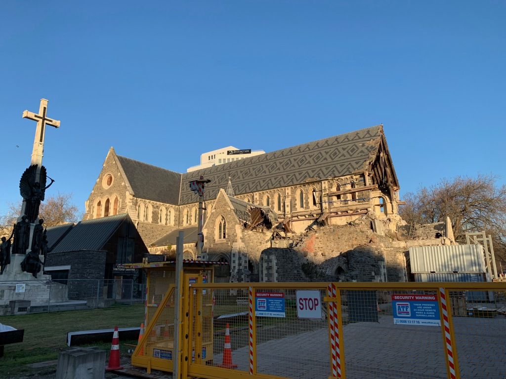 View of ChristChurch Cathedral, June 2020