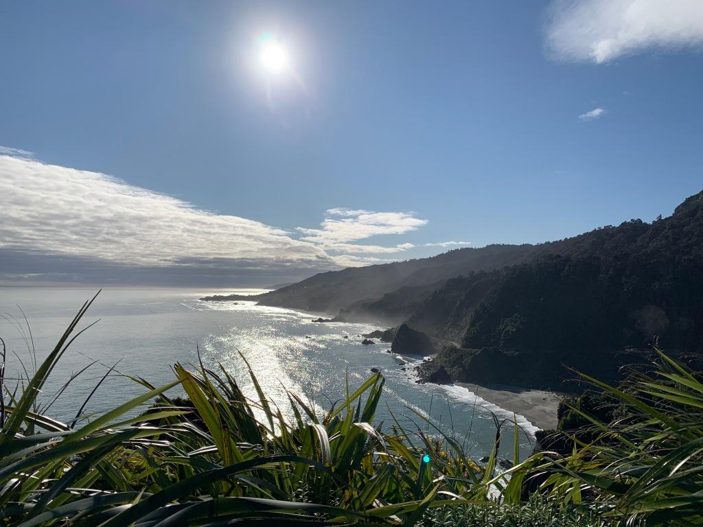 Sunny day on New Zealand's west coast