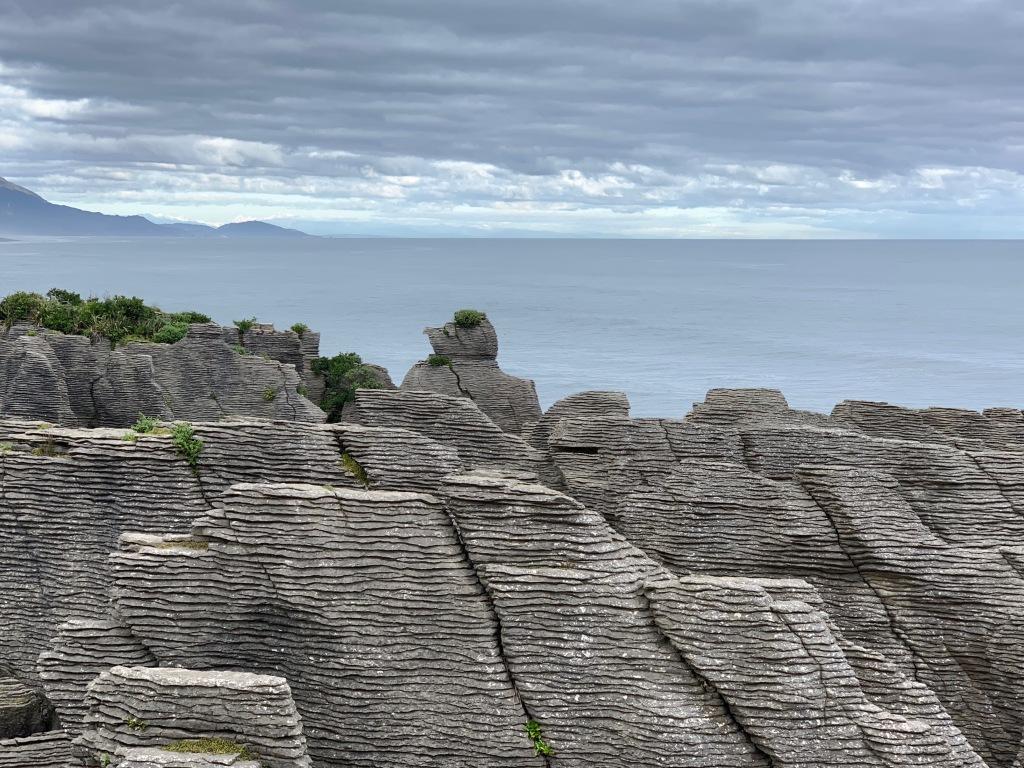 Looking south from Punakaiki Rocks