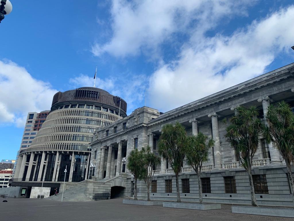 Wellington parliament buildings