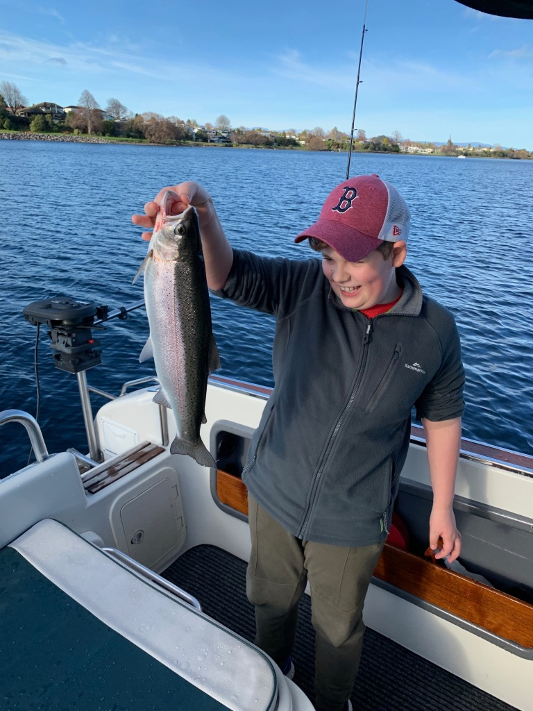 Trout fishing in Lake Taupo